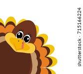 turkey pilgrimin on... | Shutterstock .eps vector #715166224