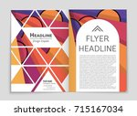 abstract vector layout... | Shutterstock .eps vector #715167034