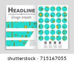 abstract vector layout... | Shutterstock .eps vector #715167055