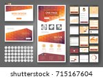 website template  one page... | Shutterstock .eps vector #715167604