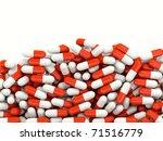 lot of pills isolated on white | Shutterstock . vector #71516779