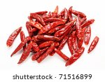 Dry Red Pepper On White...
