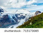 panoramic view at pasterze... | Shutterstock . vector #715173085