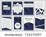 abstract vector layout... | Shutterstock .eps vector #715175557