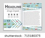 abstract vector layout... | Shutterstock .eps vector #715180375