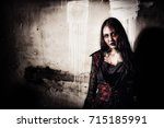 Zombie Lady Corpse Standing An...