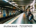 lisbon  portugal   august 09 ... | Shutterstock . vector #715187455