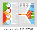 abstract vector layout... | Shutterstock .eps vector #715187509