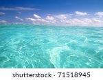 Beautiful Blue Caribbean Sea...