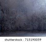 grunge room background. empty... | Shutterstock . vector #715190059