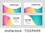 abstract vector layout... | Shutterstock .eps vector #715194439