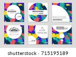 abstract vector layout... | Shutterstock .eps vector #715195189