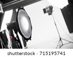 photography studio with... | Shutterstock . vector #715195741
