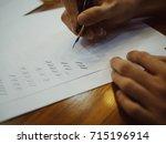 calligraphy hand lettering... | Shutterstock . vector #715196914