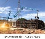 construction building works...   Shutterstock . vector #715197691