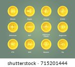 criptocurrency blockchain... | Shutterstock .eps vector #715201444