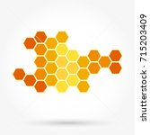 honeycomb background texture | Shutterstock .eps vector #715203409