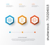 network icons set. collection... | Shutterstock .eps vector #715204015