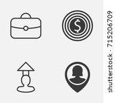 management icons set.... | Shutterstock .eps vector #715206709