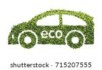 Eco Car Concept With Recycle...