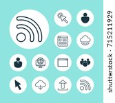 connection icons set.... | Shutterstock .eps vector #715211929