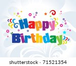abstract colorful birthday... | Shutterstock .eps vector #71521354