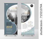 business roll up design...   Shutterstock .eps vector #715213744