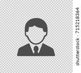 businessman avatar vector icon... | Shutterstock .eps vector #715218364
