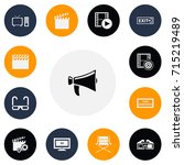 set of 13 editable cinema icons....