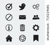 set of 12 editable web icons....
