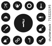 set of 13 editable tools icons. ...   Shutterstock .eps vector #715222195