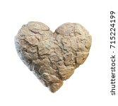 heart made of stone  rocky... | Shutterstock . vector #715224199
