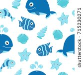 cute seamless pattern with... | Shutterstock .eps vector #715230271