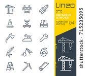lineo editable stroke  ... | Shutterstock .eps vector #715235095