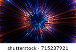 abstract spacescape  black hole....   Shutterstock . vector #715237921