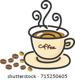 coffees | Shutterstock .eps vector #715250605