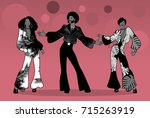 soul party time. group of man... | Shutterstock .eps vector #715263919