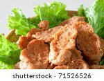 Chinese Food with Vegetable - stock photo