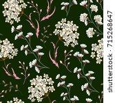 cute  seamless floral pattern... | Shutterstock . vector #715268647