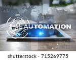 automation concept as an... | Shutterstock . vector #715269775