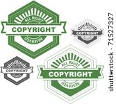 vector copyright emblem for... | Shutterstock .eps vector #71527327