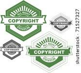 vector copyright emblem for... | Shutterstock .eps vector #71527327
