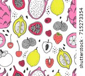 seamless nature pattern with... | Shutterstock .eps vector #715273354