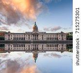 Dublin Custom House With Bright ...