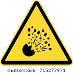 explosion risk warning sign | Shutterstock .eps vector #715277971