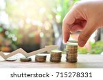 coins saving increase to profit ...   Shutterstock . vector #715278331