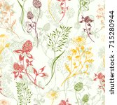 vector seamless floral... | Shutterstock .eps vector #715280944