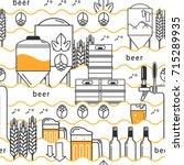 beer tap  mug  glass with beer  ...   Shutterstock .eps vector #715289935