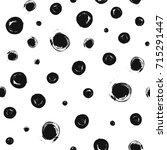 dots pattern. seamless brush... | Shutterstock .eps vector #715291447