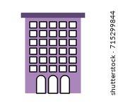 building facade windows door...   Shutterstock .eps vector #715299844